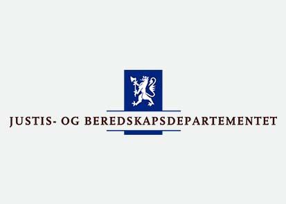 Justis og beredskapsdepartementet logo