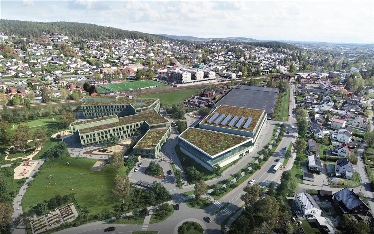 Skisse av nye Fjellhamar skole